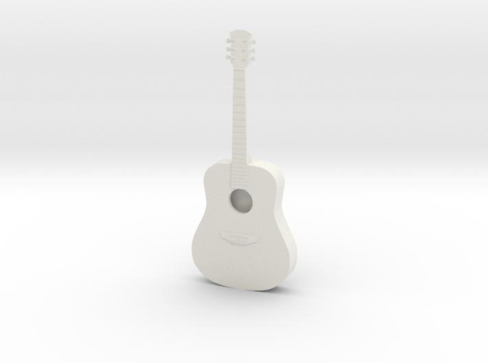 Dollhouse Acoustic Guitar 3d printed