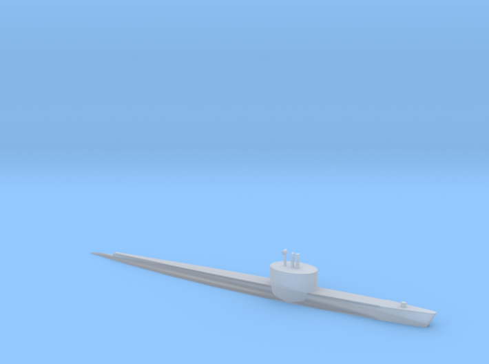 1/2400 Scale AGSS-229 Flying Fish 1952 3d printed
