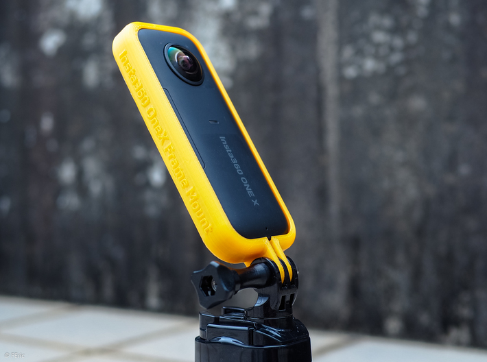 Insta360 One X frame with Gopro mount 3d printed