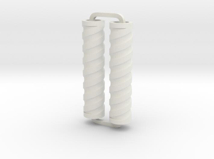 Slimline Pro spiral 04 engraved lathe 3d printed