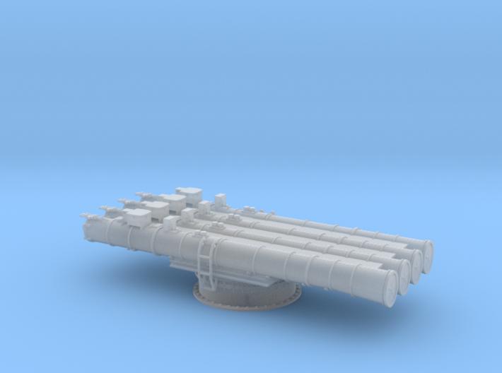 Soviet 4 tube torpedo launcher 1/72 3d printed