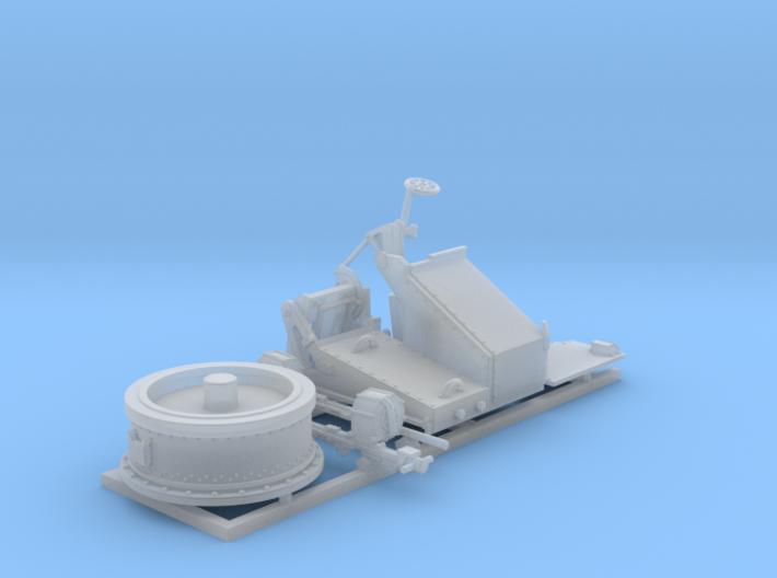 1/96 Twin 20mm Oerlikon MKV Mount Not in Use 3d printed 1/96 Twin 20mm Oerlikon MKV Mount Not in Use