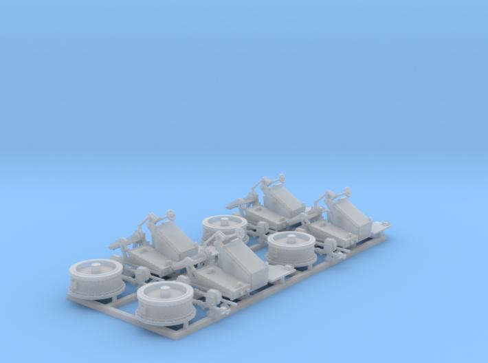 1/144 Twin 20mm Oerlikon MKV Mount 25º x4 3d printed 1/144 Twin 20mm Oerlikon MKV Mount 25º x4