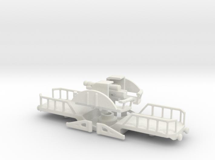200mm obusier perou train 1/76 free wheel 3d printed
