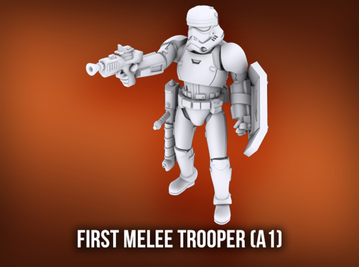 First Melee Trooper A1 3d printed