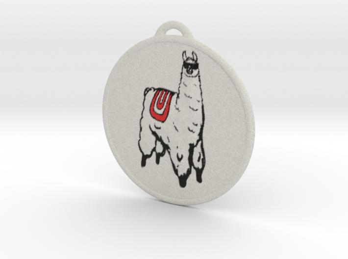 Llama Ornament 3d printed