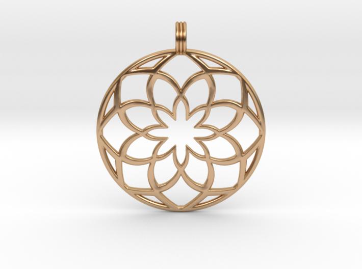 8 Petals Pendant 3d printed