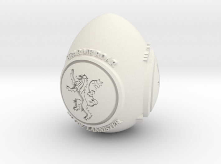 GOT House Lannister Easter Egg 3d printed