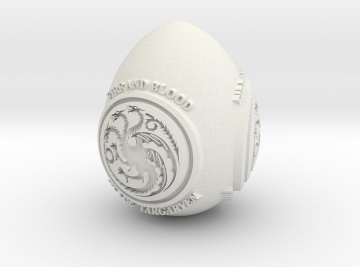 GOT House Targaryen Easter Egg 3d printed
