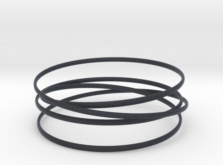 Multispire floating bracelet 3d printed