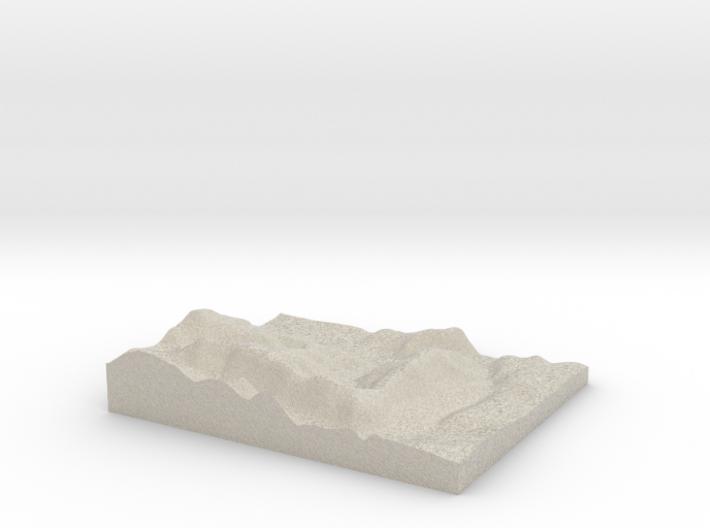 Model of Floessplatz 3d printed