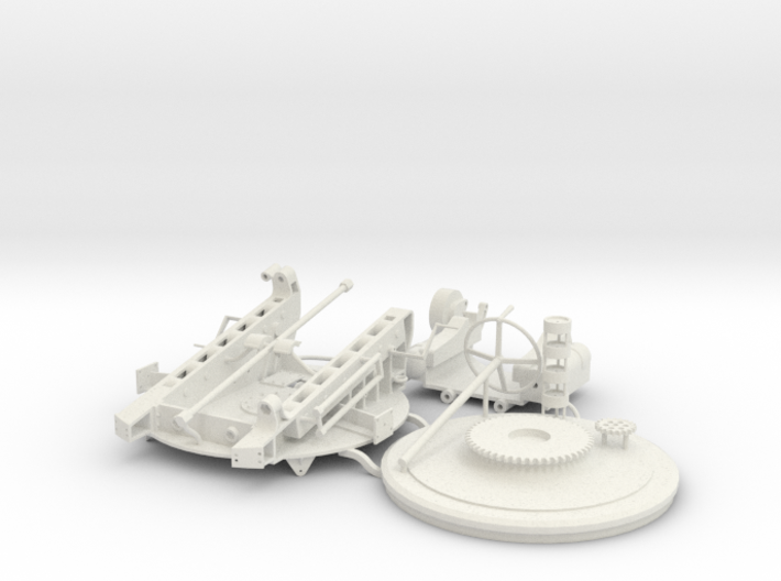 """1:36 scale mount for 8""""/36 1885 Russian Naval gun 3d printed"""
