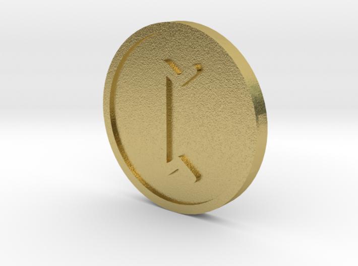 Pertho Coin (Elder Futhark) 3d printed
