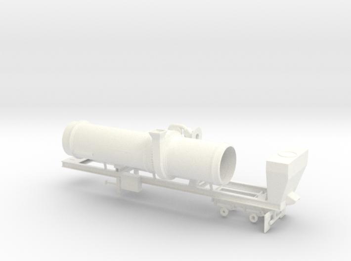 1/64th Asphalt Drum Batch Mixer Dryer trailer 3d printed