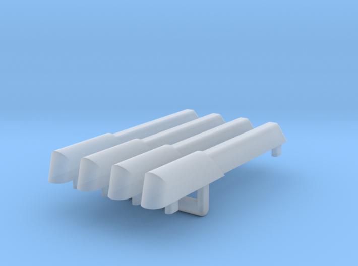 1/1000 Re-imagined Warp Plasma Conduits 4 pack 3d printed
