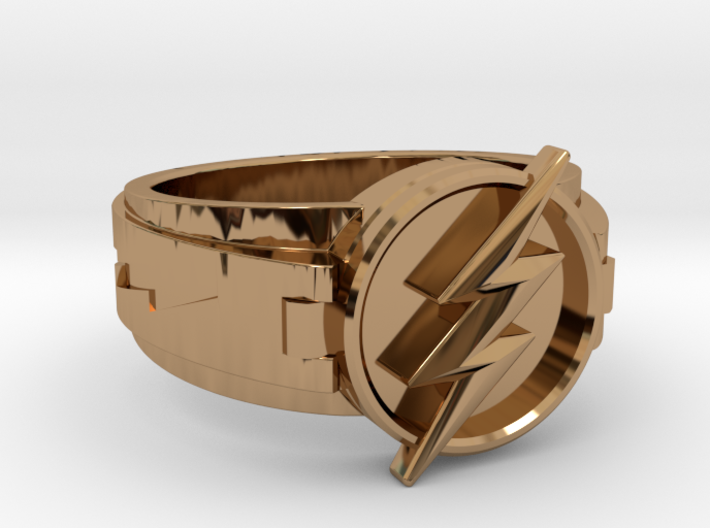 v3 The Flash ring size 17.5,  25.84mm 3d printed