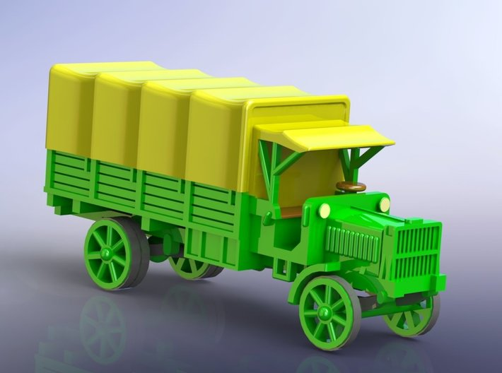 US WW I Liberty 3to Standard Truck w. Tarp 1/144 3d printed