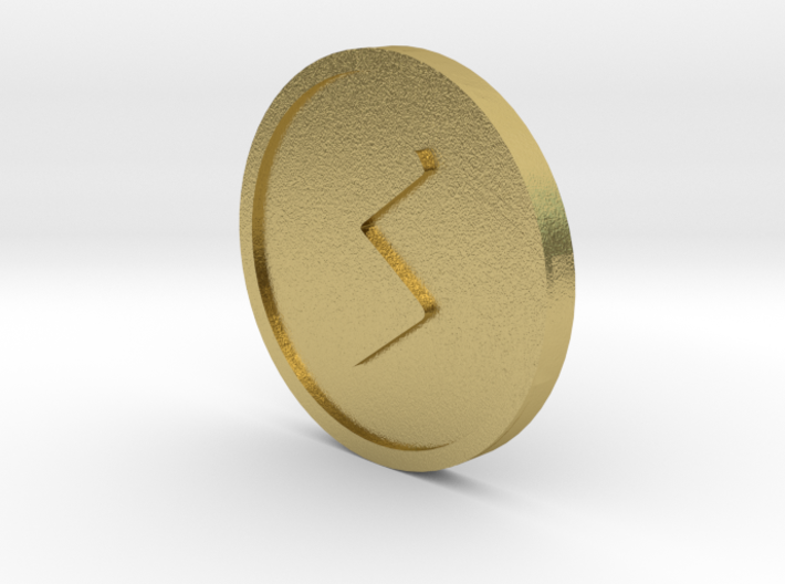 Sowilo Coin (Elder Futhark) 3d printed
