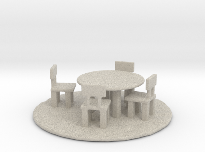 DnD textured stone table 3d printed