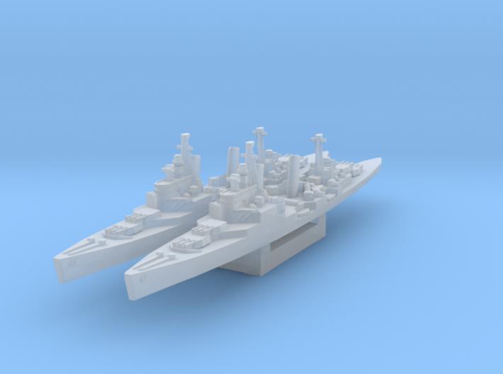 Town class (Axis & Allies) 3d printed