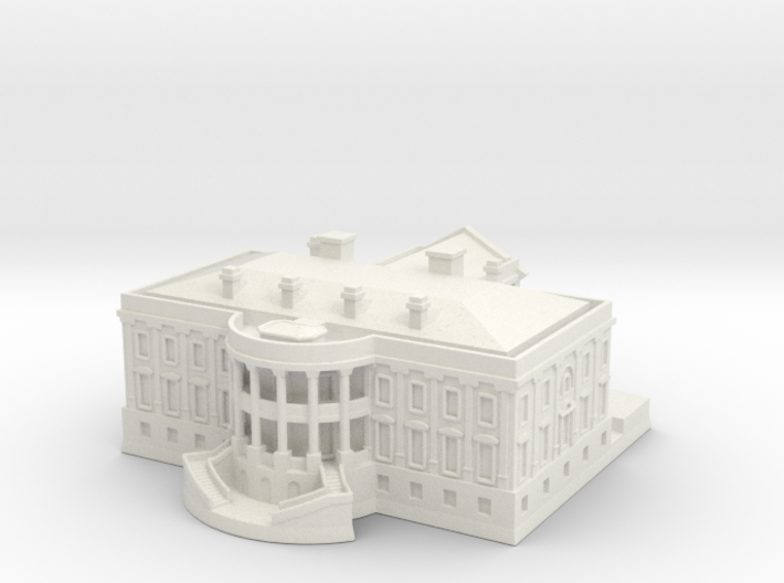 The White House 1/720 3d printed