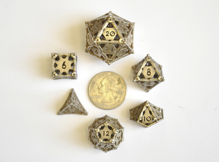 Dagger Dice Set - Balanced 3d printed