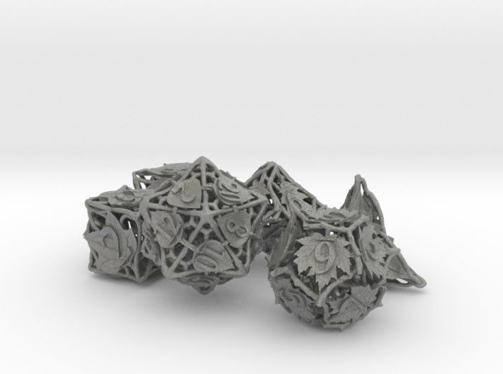 Botanical Dice Ornament Set 3d printed