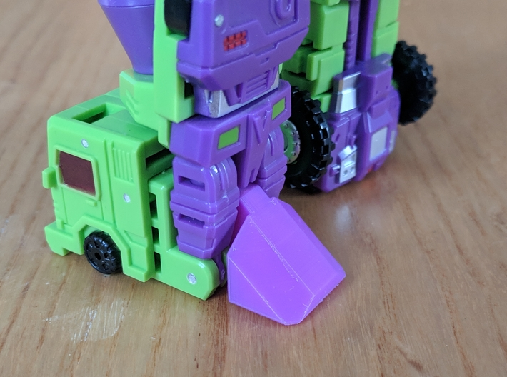 DX9 (MFT) Hulkie heel piece for improved stability 3d printed
