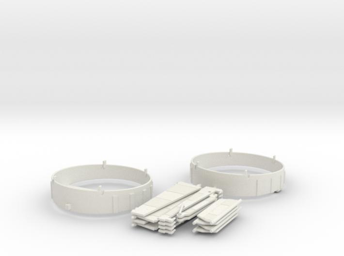 WHALE Complete Fan Shroud & Hinged Vanes Set (x2) 3d printed
