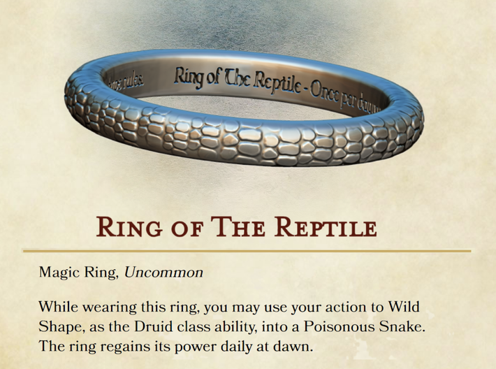 Ring of the Reptile 3d printed