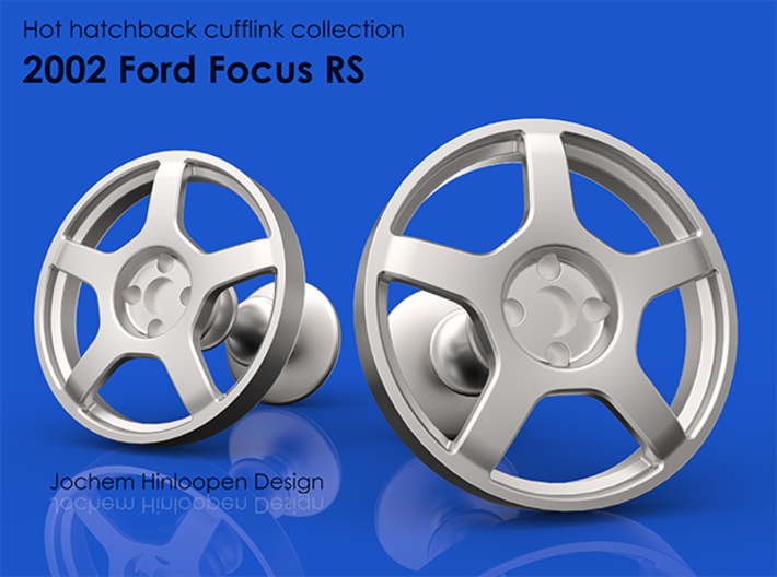 2002 Ford Focus RS Cufflinks 3d printed
