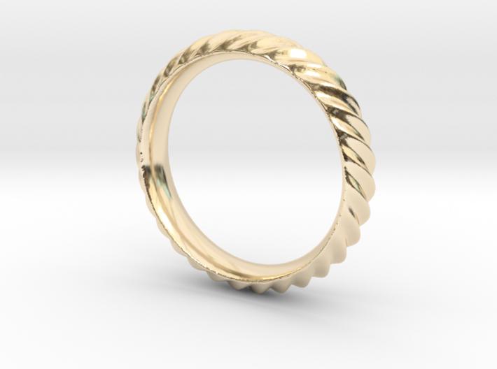 Cresta Nº3 Ring - Size 6 3d printed