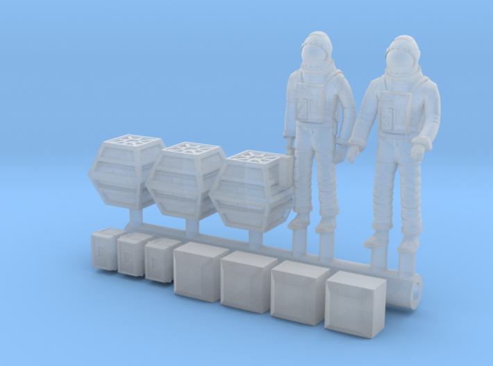 SPACE 2999 1/144 ASTRONAUT DIORAMA SET 3d printed