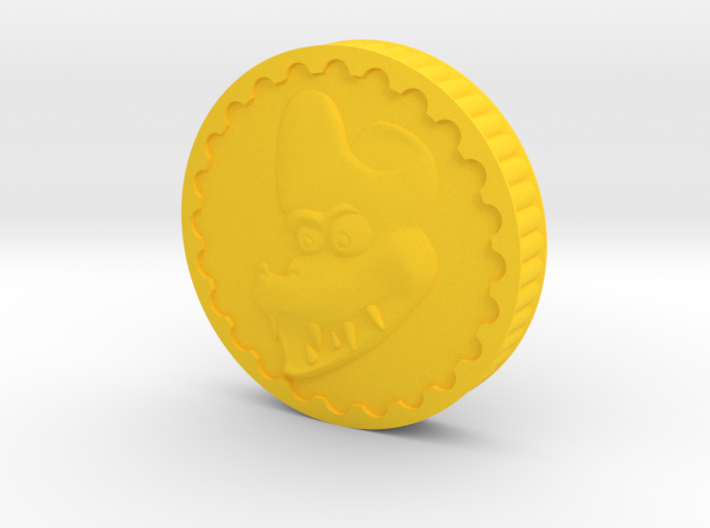 Crocodile Dubloon (A) 3d printed