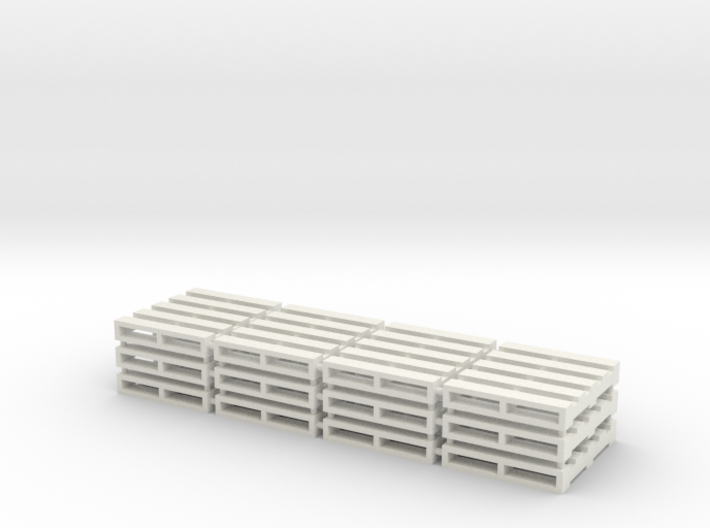 Set of 12 - 1/64 Scale Pallets 3d printed