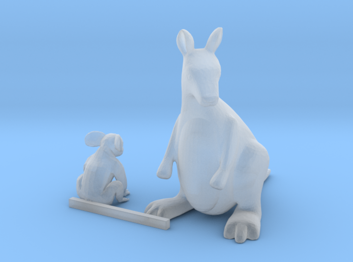 HO Scale Koala Bear and Kangaroo 3d printed This is a render not a picture