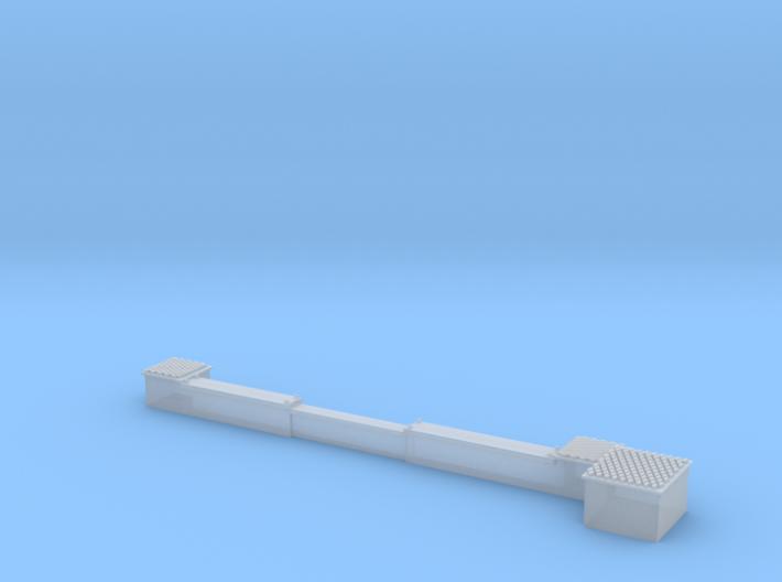 BG00-008-01 Weichenantrieb mit Kabelkanal 3d printed