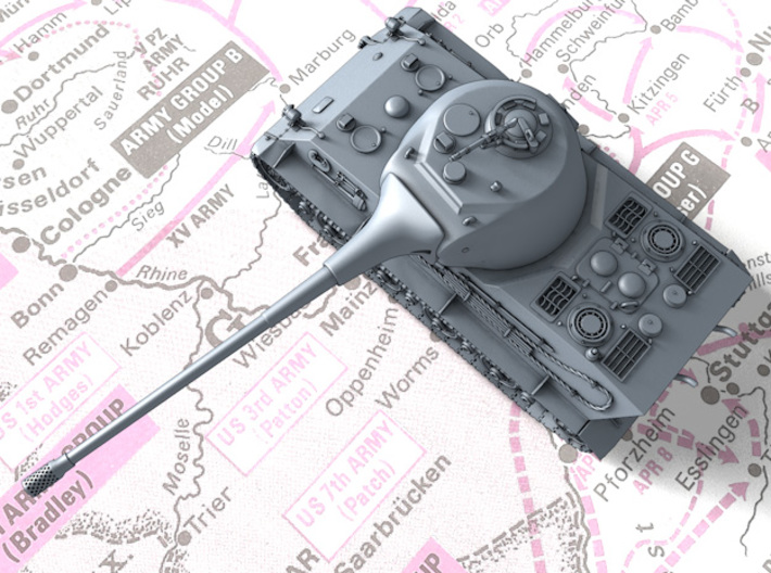 1/87 (HO) German Pz.Kpfw. Löwe VK70.01 (K) Tank 3d printed 3d render showing product detail