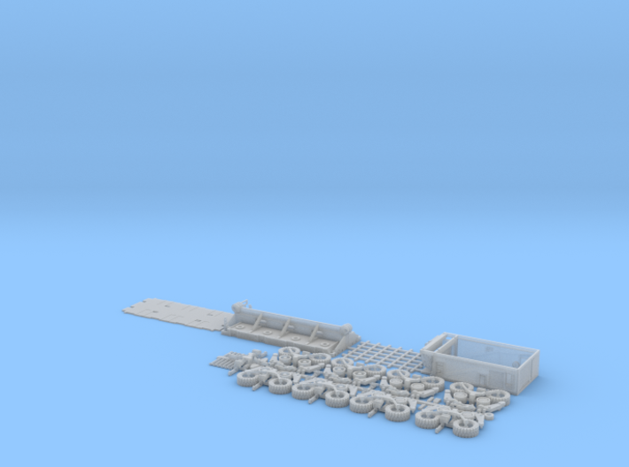 HO/1:87 spmt 4 axles with ppu 3d printed