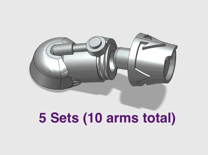5x New Chaos - Adjustable Terminator Arms 3d printed