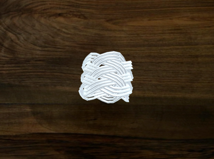 Turk's Head Knot Ring 6 Part X 5 Bight - Size 0 3d printed