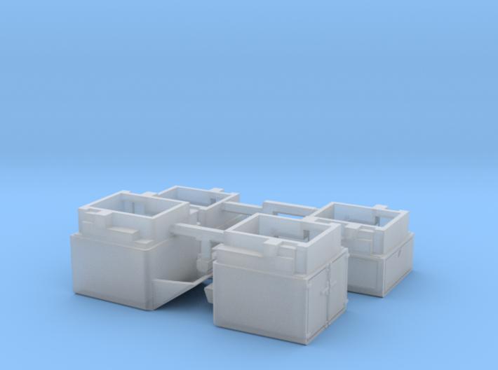 HO/1:87 Pickup caps set kit for VW Amarok 3d printed