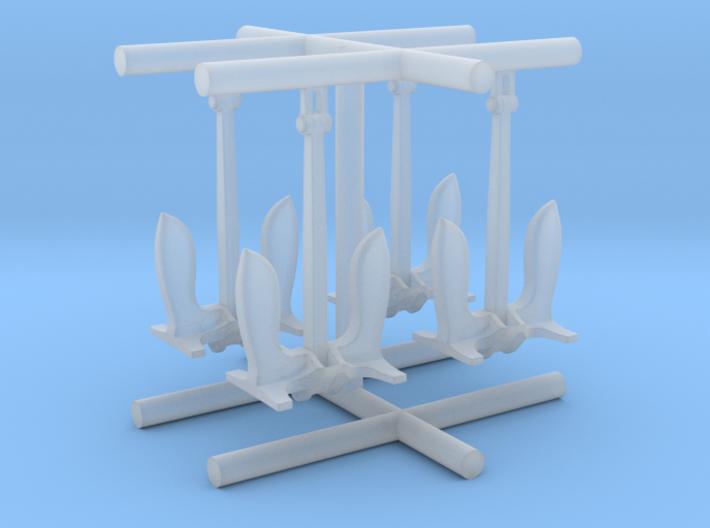 1/600 USN Anchor Set 3d printed