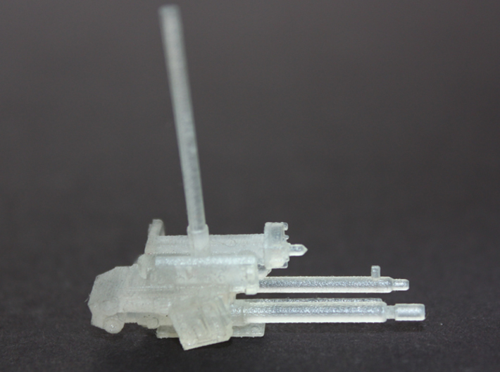 YT1300 LASER  BELLY TURRET MPC 3d printed Millennium Falcon laser belly turret painted.