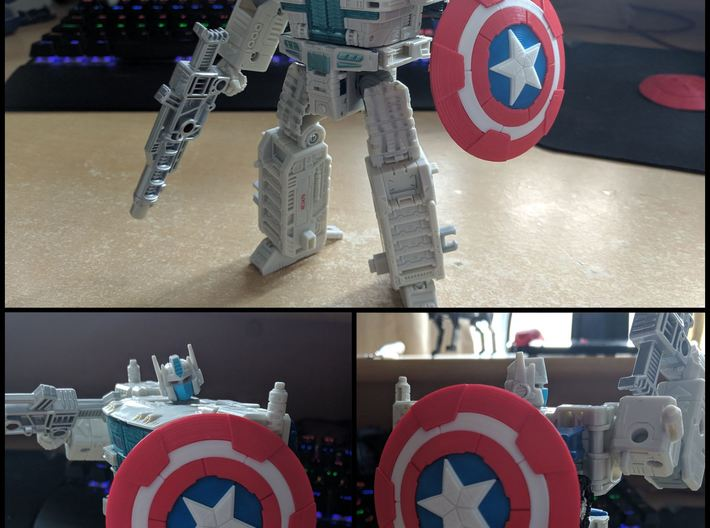 Transformers Siege Captain America Shield 3d printed