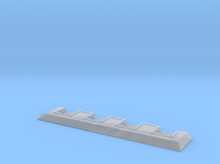 1/1200 4 Gun River Battery 3d printed