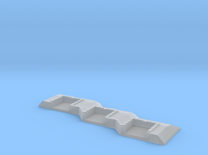 1/1200 3 Gun Emplacement Right 3d printed