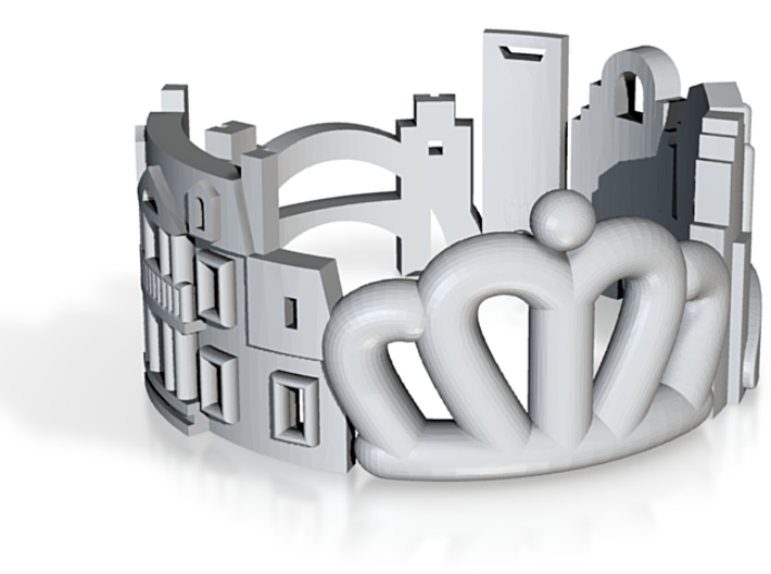 Charlotte Cityscape Ring - Queen City Jewelry 3d printed