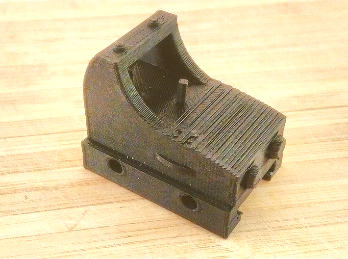 Micro Red Dot Sight Mark II for Nerf Rail 3d printed