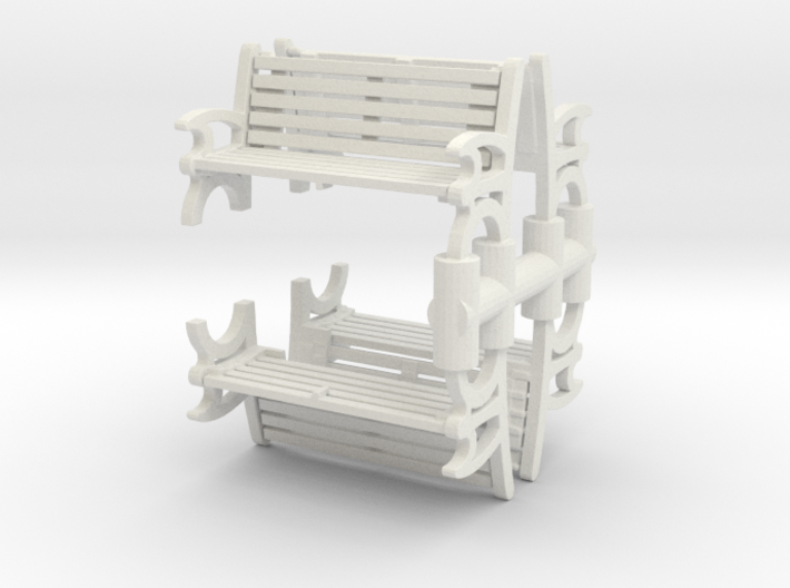 Bench (4 pieces) 1/72 3d printed